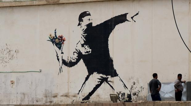 これぞアートだ!Banksyの作品30選!