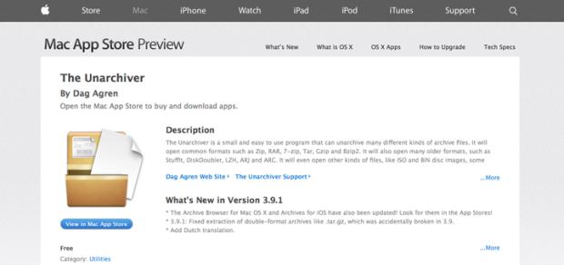MacでLZH形式等の圧縮ファイルを解凍できるソフト「The Unarchiver」!