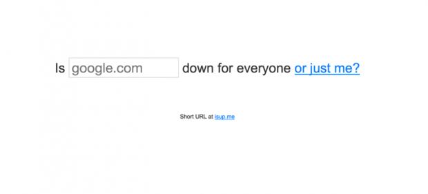 サイトのサーバーが落ちてるかどうかを調べられるサイト「Down For Everyone Or Just Me」!