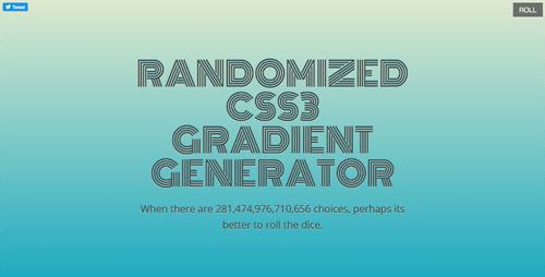 CSS3のグラデーションをランダムに表示するサイト「Randomized CSS3 Gradient Generator」!