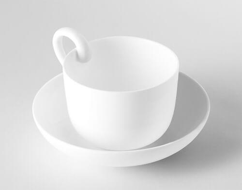 ティーカップのデザイン