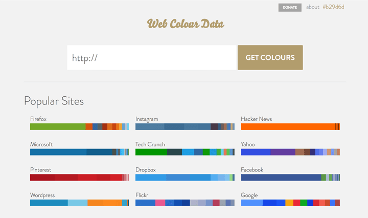 web-colour-data