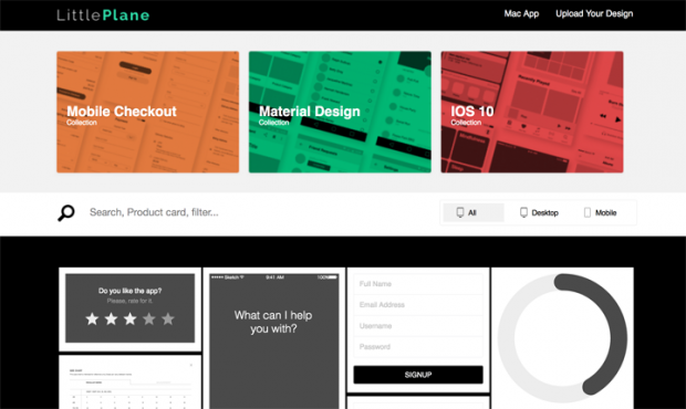SVG形式のワイヤーフレーム用のステンシルを集めたサイト「Little Plane」!