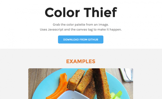 イメージからカラーパレットを取得できるサイト「Color Thief」!