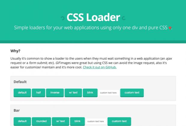 CSSのみで実装できるローディングアニメーション「CSS Loader」!