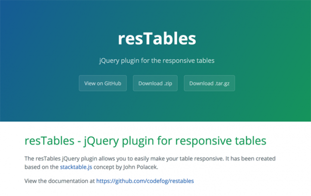 テーブルをレスポンシブ対応にできるjQueryプラグイン「resTables」!