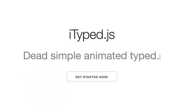 テキストにタイプライター風のアニメーションを実装できるJSライブラリ「iTyped.js」
