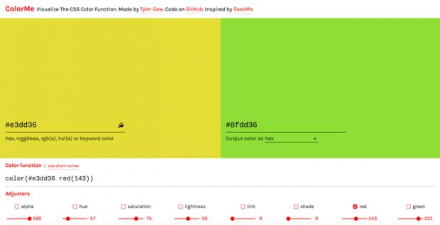 指定した色をベースにもう一色作れるサイト「ColorMe」
