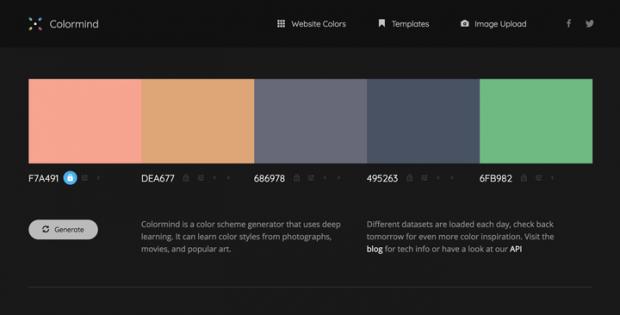 人工知能でカラーパレットを生成してくれるサイト「Colormind」