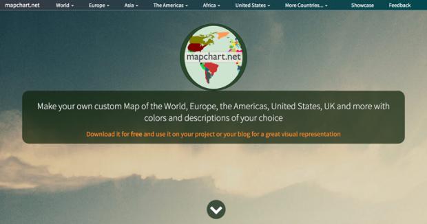 色分けした世界地図や日本地図を簡単に作れるサイト「MapChart」