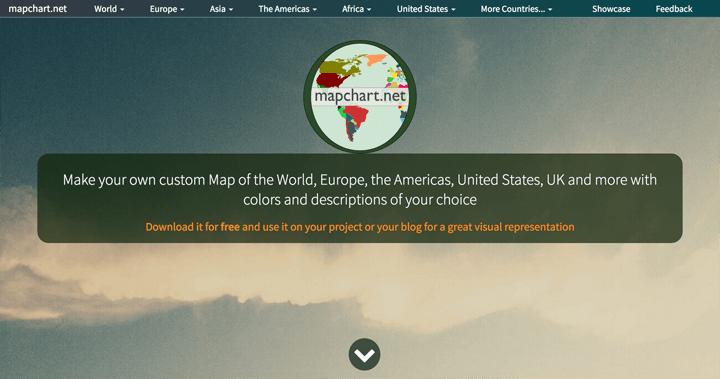 色分けした世界地図や日本地図を簡単に作れるサイトmapchart