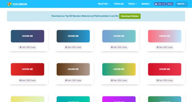 ホバーエフェクトが美しいグラデーションボタンを集めたサイト「Gradient Buttons」
