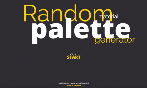 クリックする度に3色の配色パターンをランダムに表示してくれるサイト「THREEBÙ」