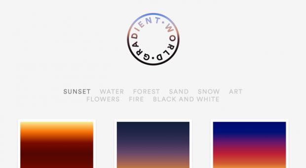 美しい自然の写真を元に生成されたグラデーションを集めたサイト「Gradient World」