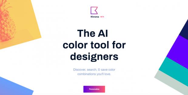 色を選択するとAIがカラーパレットを作成してくれるサイト「Khroma」