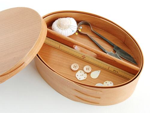 裁縫箱・ソーイングボックスの容量やサイズ