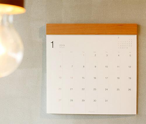 カレンダーのサイズ