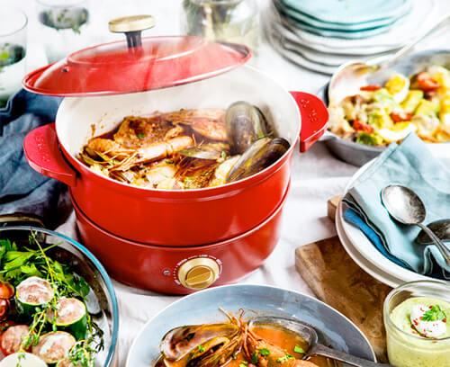 おしゃれな電気鍋のおすすめ8選。人気のブルーノのかわいいグリル鍋など