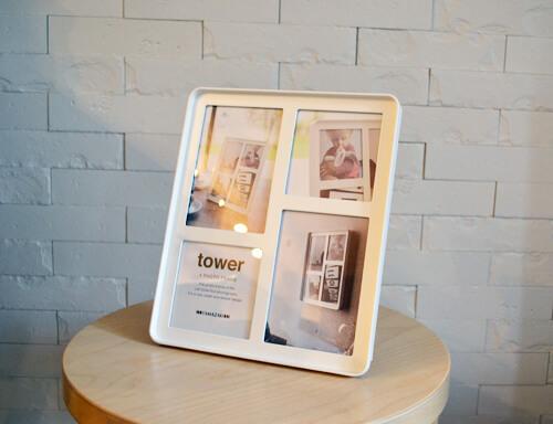 【レビュー】4枚の写真を組み合わせて入れられるtower(タワー)シリーズのフォトフレーム